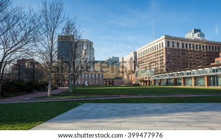 Independence Hall in Philadelphia, PA - stock photo
