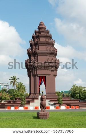 Independence Monument in Phnom Penh, Cambodia - stock photo