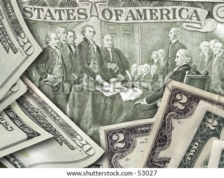 Independence two dollar bill - stock photo