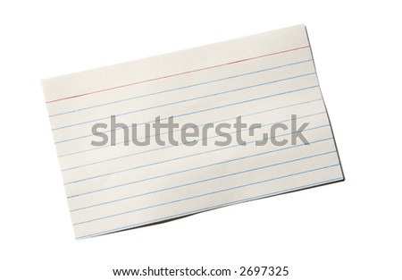 Index card with slight bends - stock photo