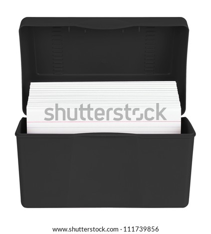 Index Cards in box - stock photo