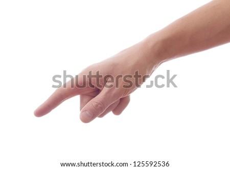 Index finger forward - stock photo