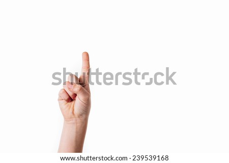 index finger touching screen isolated on stock photo royalty free