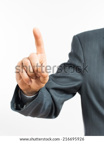 Index finger up - stock photo