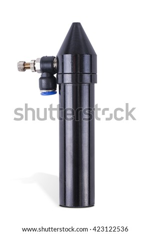 Indexable cutting nozzle, component for laser industry. isolated on white background