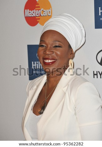 India.Arie at the 2012 Clive Davis Pre-Grammy Party at the Beverly Hilton Hotel, Beverly Hills. February 11, 2012  Los Angeles, CA Picture: Paul Smith / Featureflash