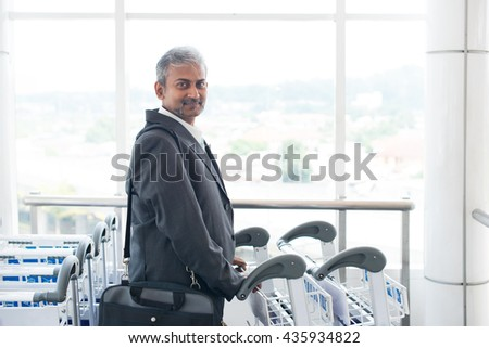 india business male travelling at airport - stock photo