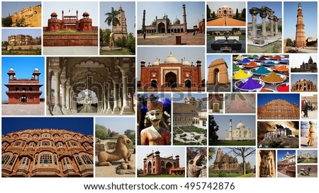 India Collage Stock Images Royalty Free Vectors