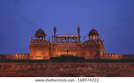 India, Delhi, the Red Fort, on the banks of the river Yamuna,  it was built by Shahjahan as the Delhi citadel of the 17th Century