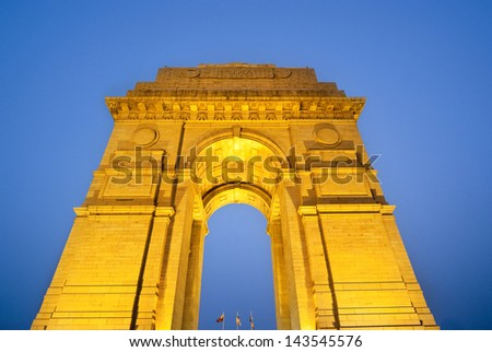 India gate Delhi - stock photo