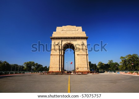 India Gate in New Delhi, India - stock photo