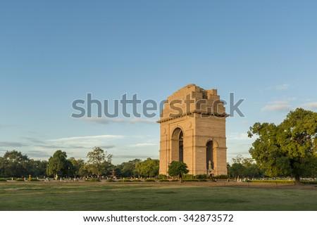 India Gate, New Delhi - stock photo