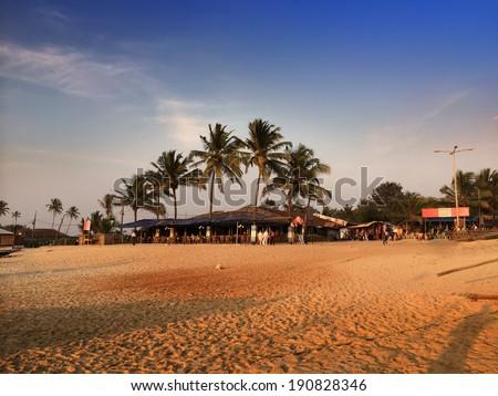 India. Goa. Beach - stock photo
