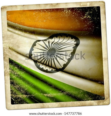 India grunge sticker - stock photo