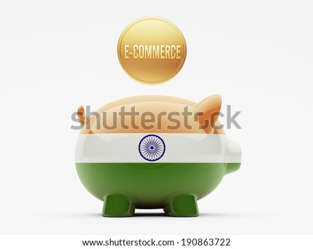 India High Resolution E-Commerce Concept - stock photo