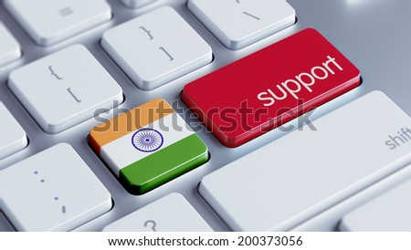 India High Resolution Support Concept - stock photo