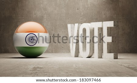 India High Resolution Vote Concept - stock photo