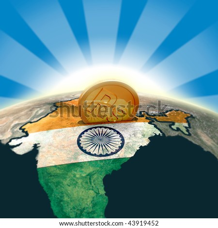 India moneybox - stock photo