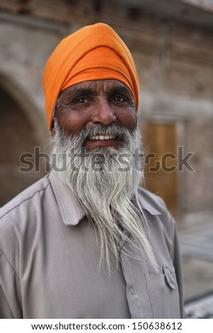 India, Rajasthan, Pushkar, indian Sadhu in an hindu temple - stock photo