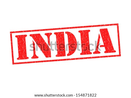 INDIA Rubber Stamp over a white background.