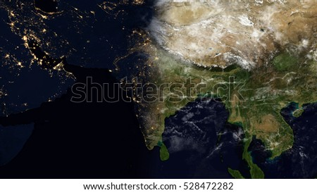 India satellite space view planet earth stock illustration 528472282 india satellite space view planet earth map composition elements of this image furnished by gumiabroncs Choice Image