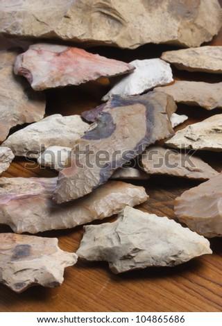 Indian Arrowheads - stock photo