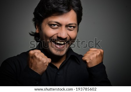 Indian asian man with expression on the face - stock photo