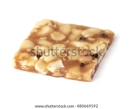 Indian brittle over white