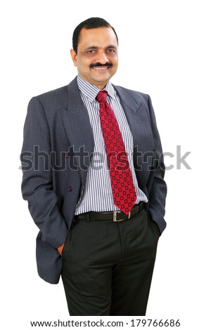 Indian business man. Isolated on white background.