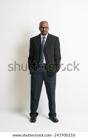 Indian business man on formal wear full body - stock photo