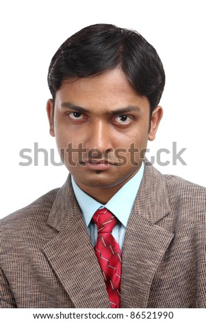 Indian business man portrait with expression.