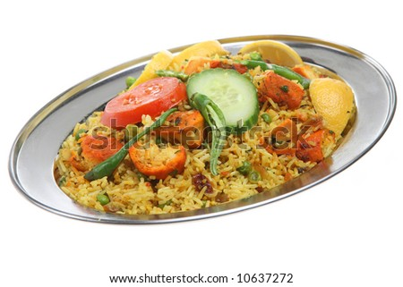 Indian Chicken Biriani Curry - stock photo