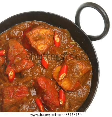 Indian chicken jalfrezi curry - stock photo