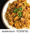 Indian chicken tikka biriyani curry - stock photo