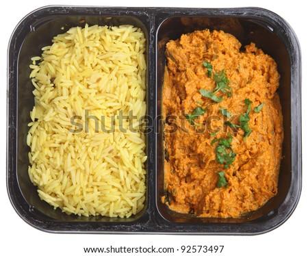 Indian chicken tikka masala ready meal - stock photo
