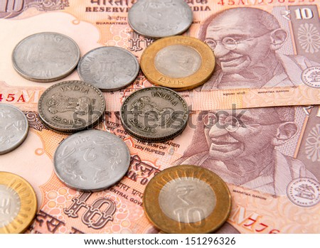 Indian currency - stock photo