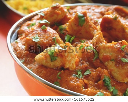 indian curry in bowl - stock photo