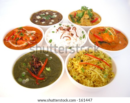 Indian dishes - stock photo