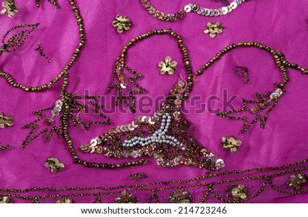 indian fabric - stock photo