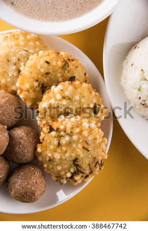 indian fasting recipes, navratri vrat food, mahashivratri food, ekadashi food recipe, upwas food, sabudana khichadi from soaked Sabudana or sago, groundnut sweet laddu, sabudana vada, potato sheera