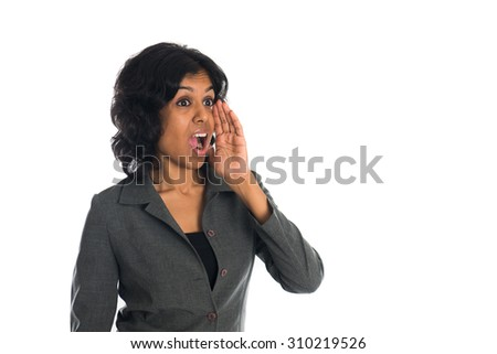 indian female shouting - stock photo