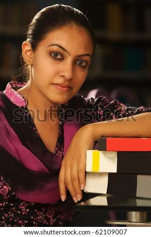 indian Female student - stock photo