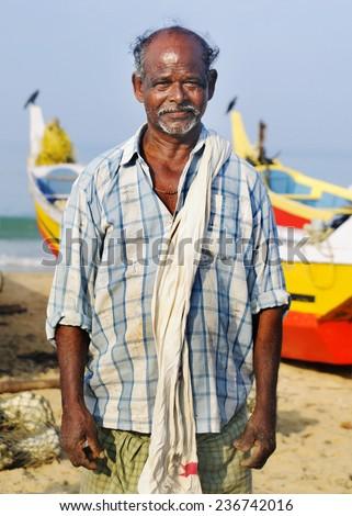 Indian Fisherman, Kerela, India. - stock photo
