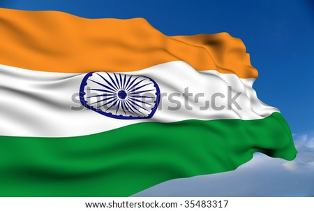Indian Flag. - stock photo