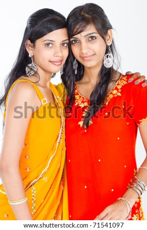 indian friends - stock photo