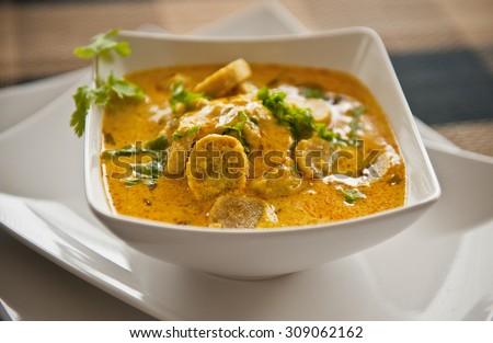 Indian Gram flour curry in yogurt - stock photo