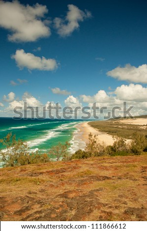 Indian Head, Fraser Island, Australia - stock photo