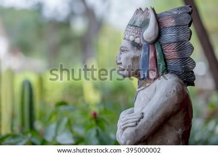 indian head statue  - stock photo