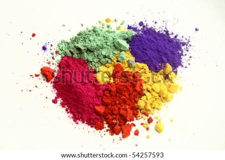 Indian Holi festival colors - stock photo