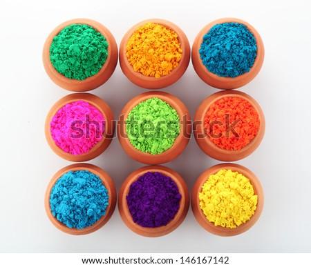 Indian Holi festival colours - stock photo